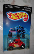 hot wheels vintage 1986 baja bug  vw kafer spezial red new unpunched card rare!