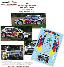 DECALS 1/43 REF 1665 Baumschlager  Skoda Fabia R5 Rallye Bohemia 2018 Rally