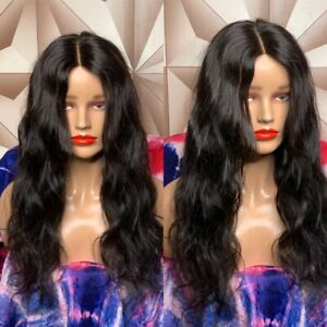 brazilian Human Hair 18inches Soft And Fluffy Body Wave Lace Closure Wig