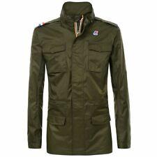 K-way giacca uomo Manfield Nylon spalmato Jersey impermeabile traspirante ant...