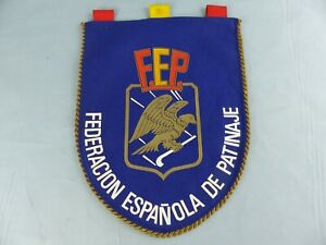 FANION PENNANT FEDERACION ESPANOLA DE PATINAJE F.F.P WIMPEL BANDERIN