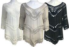 3/4 Sleeve V Neck Unbranded Regular Tops & Shirts for Women