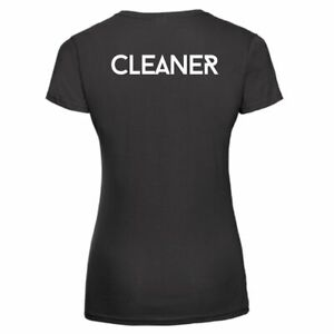 Women's Cleaner T/Shirt Workwear Small Business Uniform Industrial Office Tee