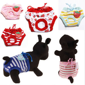 Pet Sanitary Physiological Pants Female Dog Washable Diaper Panties Briefs #p