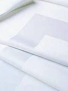 "HOTEL WHITE EGYPTIAN COTTON SATIN BAND DESIGN LARGE NAPKINS SIZE 22X22"" 10 Pack"
