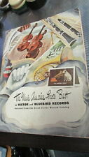 VICTOR AND BLUEBIRD RECORD CATALOG BOOK 1943