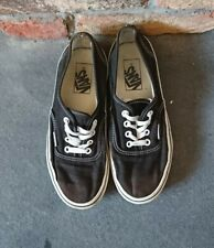 Vintage black white Vans trainers shoes skate 4.5