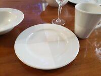 """Nautica Signature Tablewares  ARCTIC WHITE  8-3/8"""" Salad/Dessert Plates  USA"""