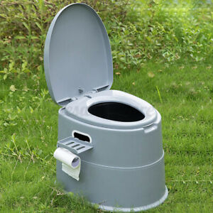 3 Color Portable Toilet Seat Travel Camping Hiking Indoor Outdoor Potty Commode