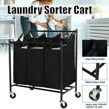 4 Bag Laundry Sorter Cart Laundry Hamper Sorter with Heavy Duty Rolling Wheels