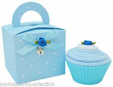Sweet Little Blue Baby Boys Sock Cupcake Nappy Cake Baby Shower Gift