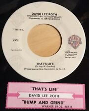 David Lee Roth 45 That's Life / Bump And Grind  w/ts