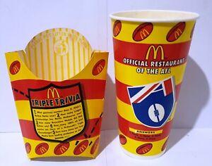 McDonald's 1997 AFL TRIPLE TRIVIA Empty Cup & Chip Pack [a]