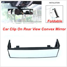 1PCS Car Clip On Rear View Convex Mirror Wide-angle Lens Driving Safe Foldable