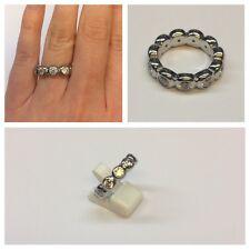 BELLISSIMA Moderno MODA gioielli-anelli Anello donna con BIANCHI PIETRE