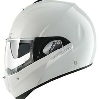 Shark Evoline Series 3 Plain Gloss White Flip Up Modular Motorcycle Helmet ZQ