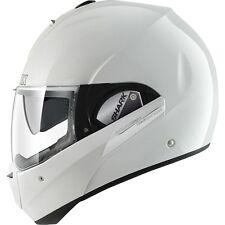 Shark Evoline Series 3 Plain Gloss White Flip Up Modular Motorcycle Helmet ZQ