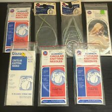 Vintage Circular Kniting Needles Lot 13 Boye Diana Aluminum Various Sizes