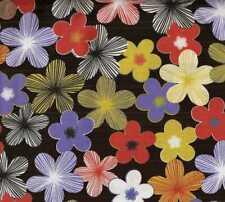 Mod Garden bright funky flowers Michael Miller fabric