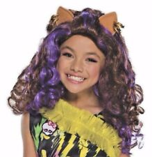 Monster High Clawdeen Wold Child Costume Wig & Ears Dress Up Youth Girls New