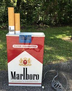 MARLBORO LIGHTED SIGN DOUBLE SIDED Cigarettes Phillip Morris RARE LARGE Marlboro