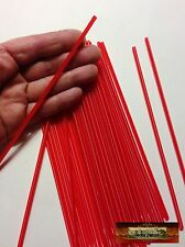 M00804 MOREZMORE 50 Plastic Drinking Straws RED THIN 17.8 cm Long 3.2 mm Dia T20