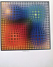 Victor Vasarely Vega Arny Poster Optical Art Patterns Unsigned 14X11