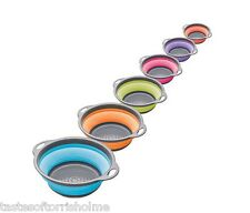 Kitchen Craft Colour Works Collapsible 2.8ltr Silicone Draining Food Colander