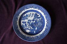 "Blue Willow Churchill England larrge dinner plate 10-3/8""  china dinnerware EUC"