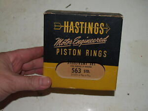 NOS Hastings Piston Rings-563-Ford 1954-1963 6 Cyl 223 Engine -3 Ring STD