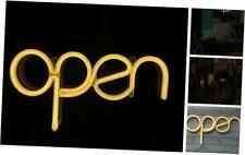 Led Open Sign Light Usb Powered Open Neon Sign Warm White 15.5x8.4 inch,Long Cor