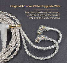 KZ Silver Plated Upgrade Wire Earbud Cable Detachable Audio Cord ForZSN Earphone