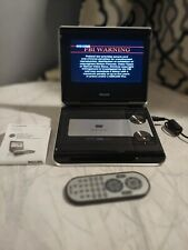 """Philips Portable DVD Player/Monitor 7"""" W/ Rechargeable Battery Remote Power Cord"""