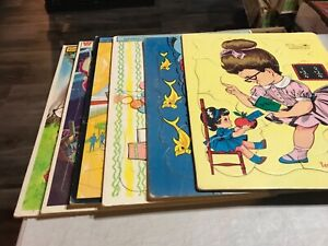 Vintage 1967 Whitman  Frame Tray Puzzle Lot of 6 1960-1970's Lot #2