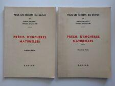 """1962 ,""""PRÉCIS D'ENCHÈRES NATURELLES"""", DELMOULY,2 TOMES,CHAMPION OLYMPIQUE,"""