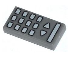 Lego Minifigure LIGHT GRAY Cockpit Dials with Groove Flat Tile 1x2 Decorated