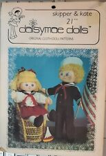 "Vtg Daisymae dolls cloth doll pattern Skipper & Kate 21"" with outfit  uncut"