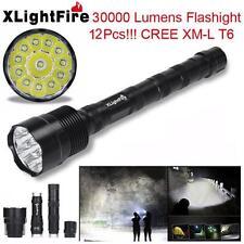 XLightFire 30000 Lumens LED Flashlight 12x CREE XML T6 5 Mode Bright Light  T