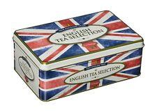 Nouveau Anglais Thé Style Vintage Union Jack Tin 100 petit déjeuner anglais inte...