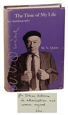 The Time of My Life WILLARD VAN ORMAN QUINE ~ SIGNED 1st 1985 ~ Stephen Kleene