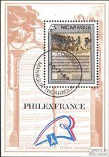 Nicaragua Bloc 187 oblitéré 1989 philexfrance ´89, Paris