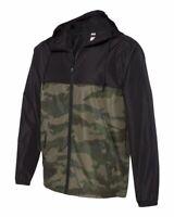 Independent Trading Co. - Light Weight Hooded Windbreaker Zip Jacket - EXP54LWZ