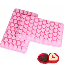 55 Silicone Small Hearts Mould Chocolate Cake Sweet Cookie Ice Cube Baking Jelly