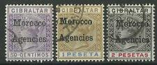 MOROCCO AGENCIES QV 1898 HIGH VALUES USED