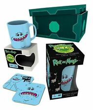 Rick And Morty Mr. Meeseeks Mug, Glass & Coasters Gift Set in Presentation Box