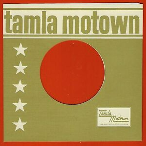 TAMLA MOTOWN (olive/cream) - REPRODUCTION RECORD COMPANY SLEEVES - (pack of 10)