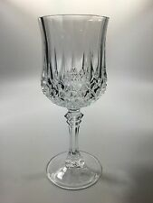 "Cristal D'Arques-Durand ""LONGCHAMP CLEAR"" Cut Glass Wine / Water Goblet 7 1/4"""