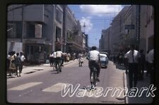 Sep 1966 kodachrome photo slide   Bridgetown Barbados bicycles   Broad Street
