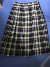 EWM Green/Blue Pleated Skirt Size 14