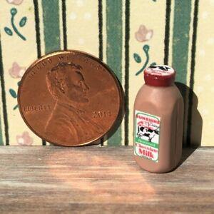 Dollhouse miniatures Beverage 1:12 Bottle of Chocolate Milk NEW